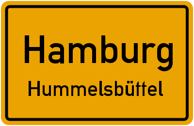 Ortsschild Hamburg Hummelsbüttel