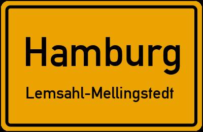Ortsschild Hamburg Lemsahl-Mellingstedt