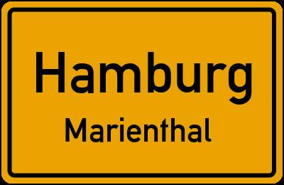 Ortsschild Hamburg Marienthal