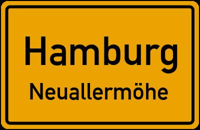 Ortsschild Hamburg Neuallermöhe