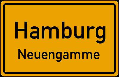 Ortsschild Hamburg Neuengamme