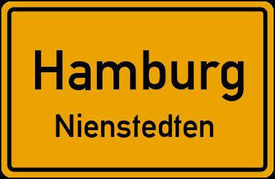 Ortsschild Hamburg Nienstedten