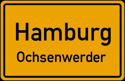 Ortsschild Hamburg Ochsenwerder