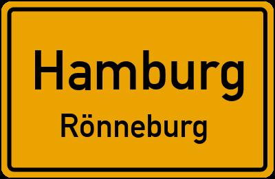 Ortsschild Hamburg Rönneburg