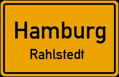 Ortsschild Hamburg Rahlstedt