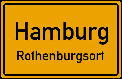 Ortsschild Hamburg Rothenburgsort
