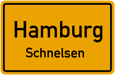 Ortsschild Hamburg Schnelsen