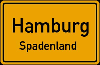 Ortsschild Hamburg Spadenland