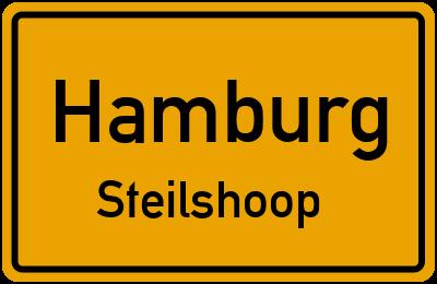 Ortsschild Hamburg Steilshoop