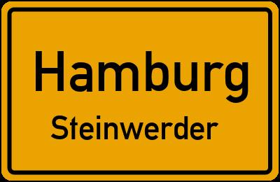 Ortsschild Hamburg Steinwerder