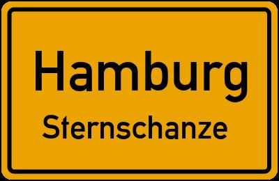 Ortsschild Hamburg Sternschanze