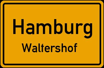 Ortsschild Hamburg Waltershof
