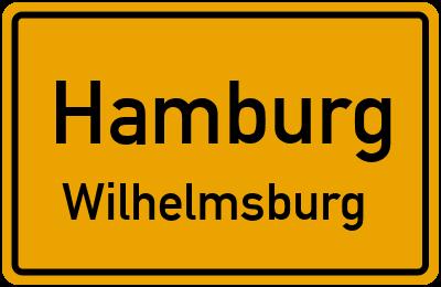 Ortsschild Hamburg Wilhelmsburg