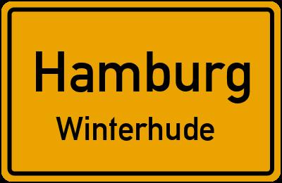 Ortsschild Hamburg Winterhude