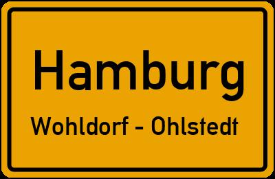 Straßenverzeichnis Hamburg Wohldorf - Ohlstedt