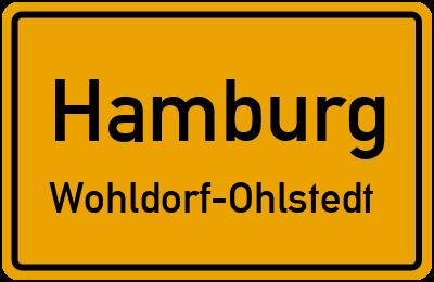 Ortsschild Hamburg Wohldorf-Ohlstedt