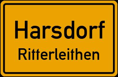 Ortsschild Harsdorf Ritterleithen