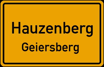 Ortsschild Hauzenberg Geiersberg