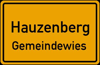 Ortsschild Hauzenberg Gemeindewies