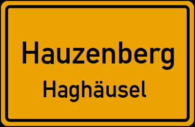 Ortsschild Hauzenberg Haghäusel