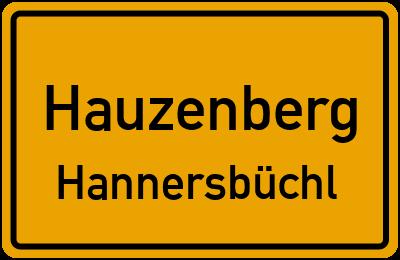 Straßenverzeichnis Hauzenberg Hannersbüchl