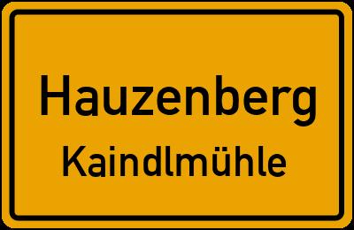 Ortsschild Hauzenberg Kaindlmühle