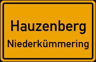 Ortsschild Hauzenberg Niederkümmering