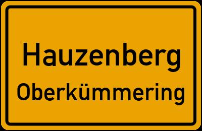 Ortsschild Hauzenberg Oberkümmering