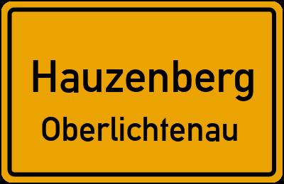 Ortsschild Hauzenberg Oberlichtenau