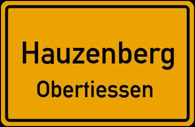 Ortsschild Hauzenberg Obertiessen