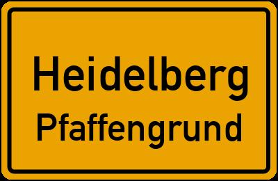 Ortsschild Heidelberg Pfaffengrund