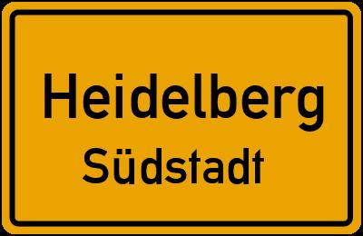 Ortsschild Heidelberg Südstadt