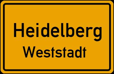 Straßenverzeichnis Heidelberg Weststadt