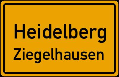 Ortsschild Heidelberg Ziegelhausen