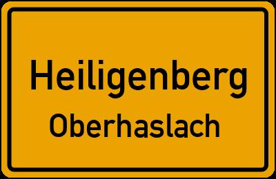 Ortsschild Heiligenberg Oberhaslach