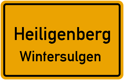 Steinsbrunn in HeiligenbergWintersulgen