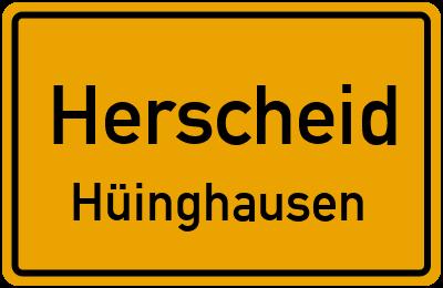 Straßenverzeichnis Herscheid Hüinghausen