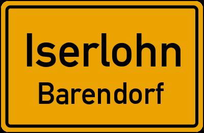 Ortsschild Iserlohn Barendorf