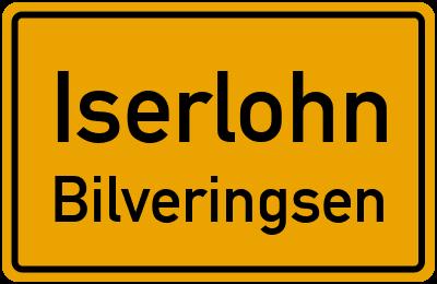 Ortsschild Iserlohn Bilveringsen