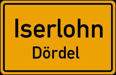 Ortsschild Iserlohn Dördel