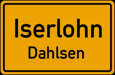 Ortsschild Iserlohn Dahlsen