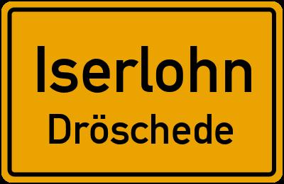 Ortsschild Iserlohn Dröschede