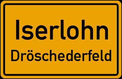 Ortsschild Iserlohn Dröschederfeld