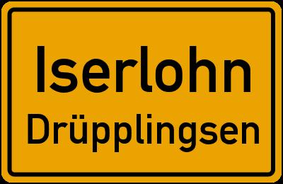Ortsschild Iserlohn Drüpplingsen