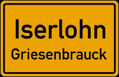 Ortsschild Iserlohn Griesenbrauck