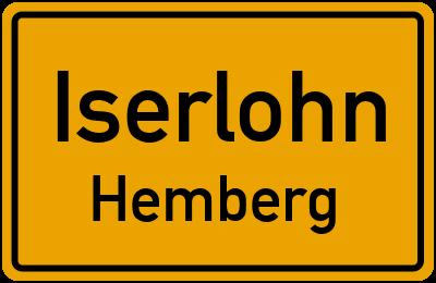 Ortsschild Iserlohn Hemberg