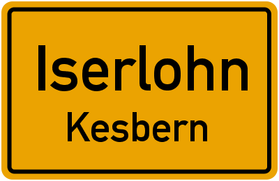 Straßenverzeichnis Iserlohn Kesbern