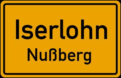 Ortsschild Iserlohn Nußberg