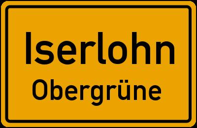 Ortsschild Iserlohn Obergrüne