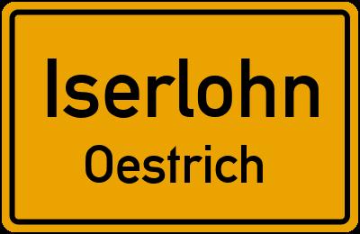 Ortsschild Iserlohn Oestrich